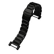 블랙 / 실버 스테인레스 스틸 스포츠 밴드 용 Suunto 손목 시계 24mm