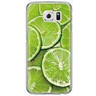 For Samsung Galaxy S7 Edge Ultratyndt / Gennemsigtig Etui Bagcover Etui Frugt Blødt TPU SamsungS7 edge / S7 / S6 edge plus / S6 edge / S6