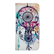 For iPhone 5 Case Card Holder / Wallet / with Stand / Flip / Pattern Case Full Body Case Dream Catcher Hard PU Leather iPhone SE/5s/5