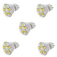 7W GU4 (MR11) LED-spotlampen MR11 15LED SMD 5730 600LM lm Warm wit / Koel wit Decoratief AC 12 V 5 stuks