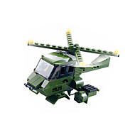 Building Blocks For Gift  Building Blocks Model & Building Toy War Chariot / Helicopter Plastic Above 6 Green Toys