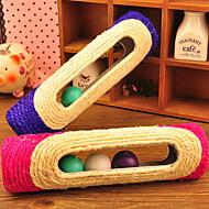 Juguete para Gato Juguetes para Mascotas Interactivo Duradero Almohadilla para Arañar Sisal Color Aleatorio