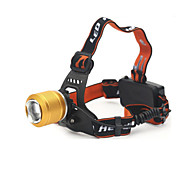 Lights LED Flashlights/Torch / Headlamps LED 890 Lumens 2 Mode Cree T6 18650 Adjustable Focus / Waterproof / Rechargeable