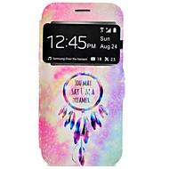 Na Samsung Galaxy S7 Edge Etui na karty / Z podpórką Kılıf Futerał Kılıf Łapacz snów Twarde Skóra PU na SamsungS7 edge / S7 / S6 edge