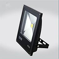 50W varme / kul hvit farge svart ultra tynn IP65 utendørs LED flomlys ledet pære (ac85-265v)