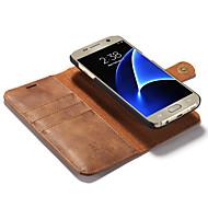 Za Samsung Galaxy S7 Edge Utor za kartice / Zaokret Θήκη Kompletna maska Θήκη Jedna boja Tvrdo Prava koža Samsung S7 edge / S7