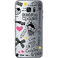 Voor Samsung Galaxy S7 Edge Transparant / Other hoesje Achterkantje hoesje Cartoon Zacht TPU SamsungS7 edge / S7 / S6 edge plus / S6 edge