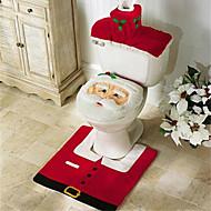 メリークリスマスと幸せな新年最高のクリスマスギフト&クリスマスの装飾のバスルーム便座カーペット