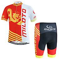 Deportes® Maillot de Ciclismo con Shorts Hombres Mangas cortasTranspirable / Secado rápido / Permeabilidad a la humeda / Cremallera YKK /