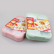 eko bpa darmo 4 Komora lunch box szczelne z łyżeczką