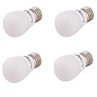 3 E26/E27 Ampoules Globe LED A60(A19) 6 SMD 5730 220 lm Blanc Chaud Décorative AC 110-130 / AC 85-265 / AC 100-240 V 4 pièces