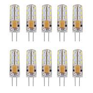 1w 80-120lm żel krzemionkowy g4 12v ac / dc żarówka LED 24 smd 3014 360 kąt wiązki biały / ciepły biały (10 pcss)