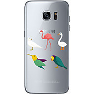 Voor Samsung Galaxy S7 Edge Patroon hoesje Achterkantje hoesje Uil Zacht TPU Samsung S7 edge / S7 / S6 edge plus / S6 edge / S6