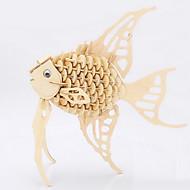 직소 퍼즐 3D퍼즐 / 나무 퍼즐 빌딩 블록 DIY 장난감 물고기 용품 나무 골드 모델 & 조립 장난감