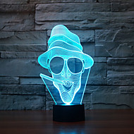 Smoking Touch Dimming 3D LED Night Light 7Colorful Decoration Atmosphere Lamp Novelty Lighting Christmas Light