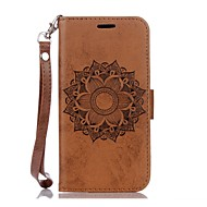 Mandala Embossed Leather Wallet for Samsung Galaxy S5 S6 S6Edge S7 S7Edge