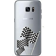 Για Samsung Galaxy S7 Edge Με σχέδια tok Πίσω Κάλυμμα tok Σημαία Μαλακή TPU Samsung S7 edge / S7 / S6 edge plus / S6 edge / S6