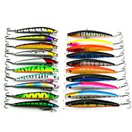 20 pcs Paquete de cebos Multicolor 8.5G;11.2G g Onza,9.5 CM:11.5CM mm pulgada,Plástico blando Pesca de Mar