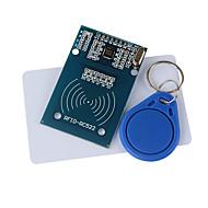 rc522 rfid-moduuli + IC-kortin + s50 Fudanin kortteja avaimenperiä varten (Arduino) antaa kehitysapua koodi