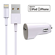 HXINH  MFi Certified Charger Kit 5W USB Port Car Charger with Lightning Cable for iPhone