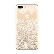 Para Ultra-Fina / Transparente / Estampada Capinha Capa Traseira Capinha Brincadeira Com Logo da Apple Macia TPU AppleiPhone 7 Plus /