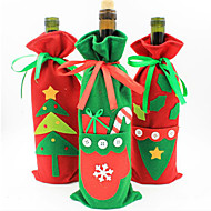 زينة عيد الميلاد أكياس هدية مجموعة زجاجة الشمبانيا النبيذ جديدة من كيس الحلوى من عيد الميلاد لون المنتجات عشوائي