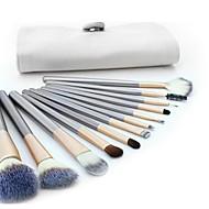 12 Brush Sets Kwast van geitenhaar Beugel Hout Gezicht Overige