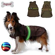 Perros Impermeable / Chaleco Azul / Negro / Marrón Ropa para Perro Invierno / Primavera/Otoño Un Color A Prueba de Agua / LED