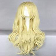 Naisten Synteettiset peruukit Suojuksettomat Laineikas Vaaleahiuksisuus Cosplay-peruukki Halloween Peruukki Carnival Peruukki puku