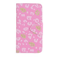 A samsung galaxy a5 (2016) a3 (2016) efeton rózsaszín leopárd festés pu telefon tok