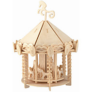 New Playground Puzzles Wooden Puzzles Building Blocks DIY Toys Chinese Architecture 1 Wood Ivory Puzzle Toy
