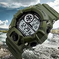 Bărbați Ceas de Mână Piloane de Menținut Carnea LCD / Calendar / Cronograf / Rezistent la Apă / alarmă Cauciuc Bandă Negru / Verde Marca-
