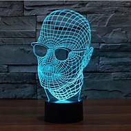 משקפי איש קשר העמעום 3D LED מנורת לילה מנורת אווירת קישוט 7colorful תאורת חידוש אור חג המולד