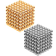 Magnetiske leker 432 Deler 3MM Magnetic Balls 216PCS *2,Golden&Silver 2 Color Mixed in 1 Box,Diameter 3 MMStress relievers GDS-sett