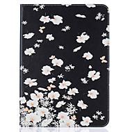 Pour Portefeuille Porte Carte Avec Support Clapet Relief Motif Coque Coque Intégrale Coque Fleur Dur Cuir PU pour SamsungTab S2 9.7 Tab