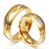 Heren Dames Voor Stel Ringen voor stelletjes Bergkristal Modieus Aanbiddelijk PERSGepersonaliseerd Luxe Sieraden Kostuum juwelen