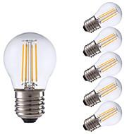 3.5 E26/E27 フィラメントタイプLED電球 P45 4 COB 350/400 lm 温白色 / クールホワイト 交流220から240 V 6個