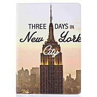 Empire State Building Pattern Painted PU Leather Material Card Flat Shell for  ipad Air  Air 2