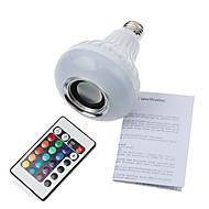 12W E26/E27 Ampoules Globe LED A90 1 SMD 5060 900 lm Blanc Froid / RVB Gradable / Commandée à Distance / Décorative / Bluetooth V 1 pièce