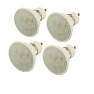 5W GU10 LED-spotlampen MR16 10 SMD 5730 400 lm Warm wit Decoratief V 4 stuks