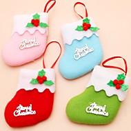 6Pcs/lot Christmas Tree Decoration Tree Ornament Christmas Socks Children's Gift Tiny Toy Party Decor(Style Random)