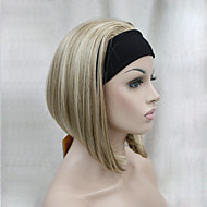 New Fashion 3/4 Wig With Headband Women's Short Straight Synthetic Half Wig