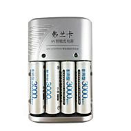 fulanka 1.2V aa aaa 9V (6F22) li-ion nimh NiCd batteriladdare auto batteriladdare 4st laddningsbara batterier