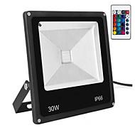 Ac85-265v 30w rgb fjernkontroll farge utendørs vanntett lysprojektor / led floodlight 1pc
