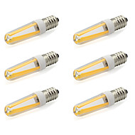 4W E14 2-pins LED-lampen T 4 COB 380 lm Warm wit / Koel wit AC 220-240 V 6 stuks