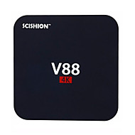SCISHION V88 Android 5.1 Smart TV Box 4K HD 1G RAM 8G ROM Quad core WiFi Black
