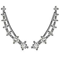 Női Lány Fül Mandzsetta Hipoallergén Divat minimalista stílusú jelmez ékszerek Strassz Ezüstözött Hamis gyémánt Ötvözet Ékszerek Ékszerek