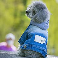 Cães Jaquetas Jeans Azul Roupas para Cães Inverno Primavera/Outono Jeans Vaqueiro Da Moda