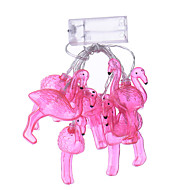 Holiday Light LED Strip Flamingo 10 Lamp Balls/Set LED String For Wedding Party Fairy Lights Christmas Decoration
