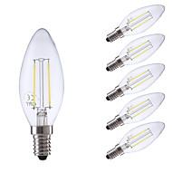 2W E14 Lampadine LED a incandescenza B 2 COB 250 lm Bianco caldo / Luce fredda AC 220-240 V 6 pezzi